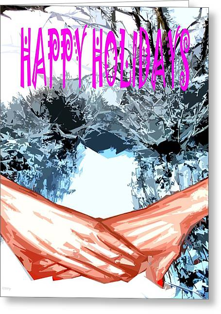 Happy Holidays 81 Greeting Card by Patrick J Murphy