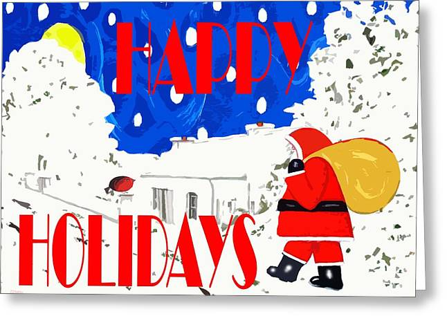Happy Holidays 86 Greeting Card by Patrick J Murphy