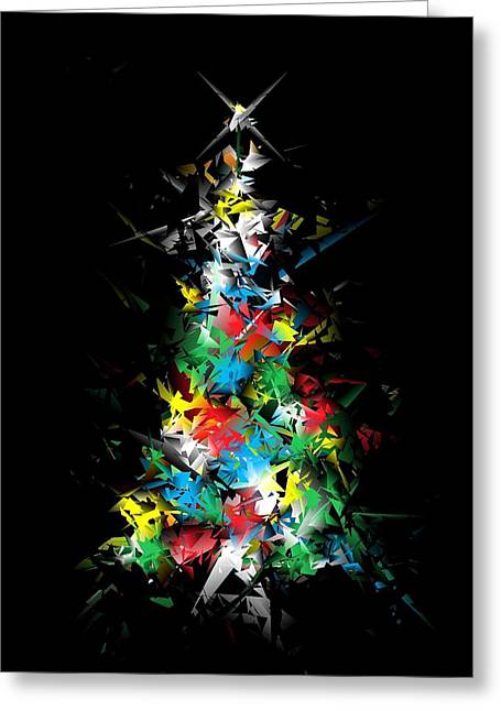 Happy Holidays - Abstract Tree - Vertical Greeting Card