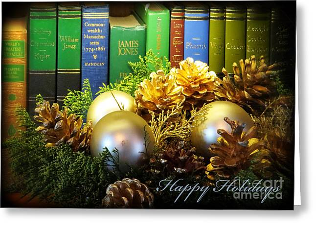 Happy Holidays Books Greeting Card