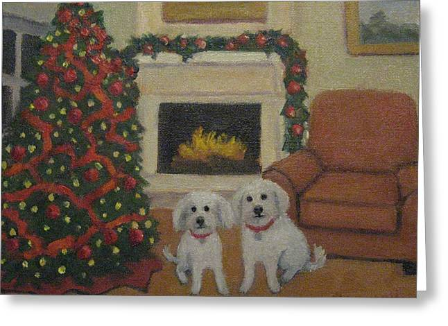 Happy Holidays From Howie And Eddie Greeting Card