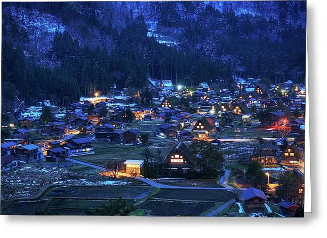 Greeting Card featuring the photograph Happy Holidays From Japan by Peter Thoeny