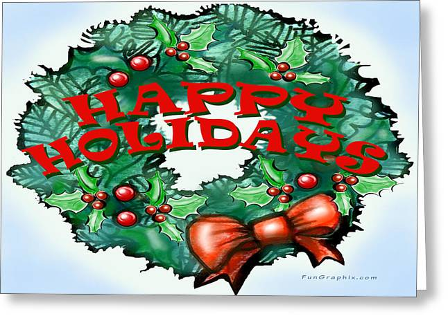 Happy Holidays Greeting Card by Kevin Middleton