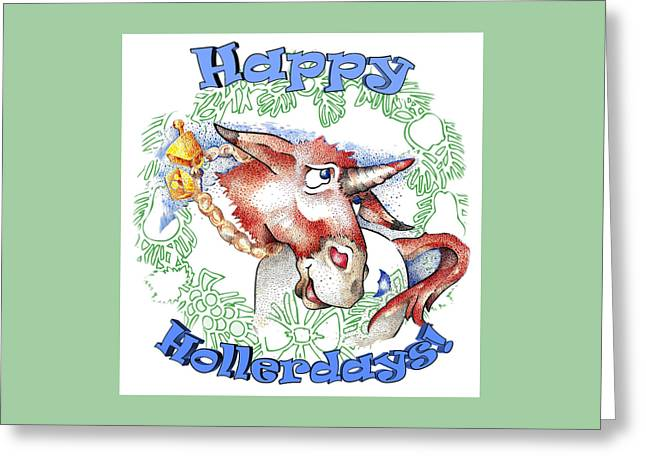 Real Fake News Happy Hollerdays Greeting Card