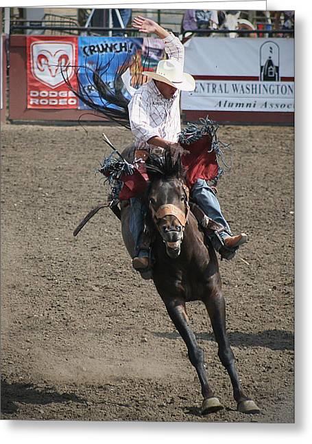 Happy Horse Bucking Greeting Card
