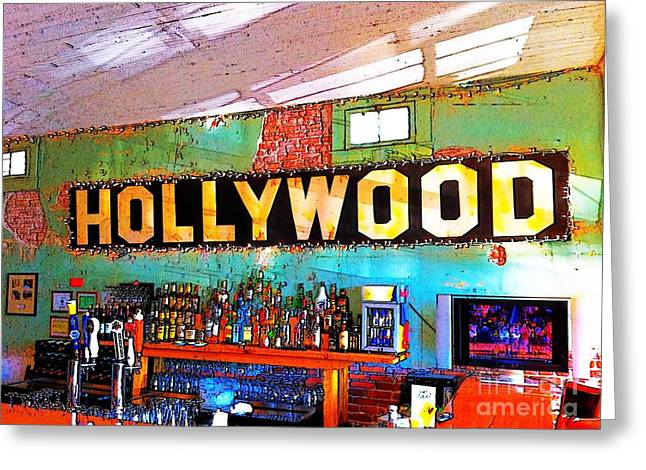 Greeting Card featuring the photograph Happy Hour At The Hollywood Cafe by T Lowry Wilson