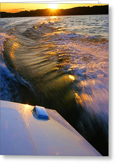 Happy Hour - Lake Geneva Wisconsin Greeting Card
