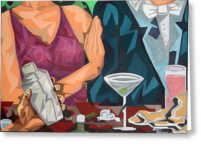 Happy Hour Greeting Card by Susan Clausen
