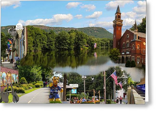 Happy In Easthampton Collage Greeting Card