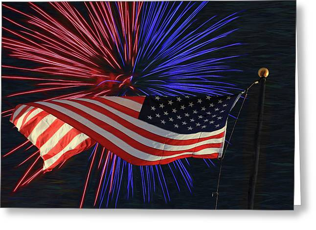 Happy Independence Day Greeting Card by Donna Kennedy