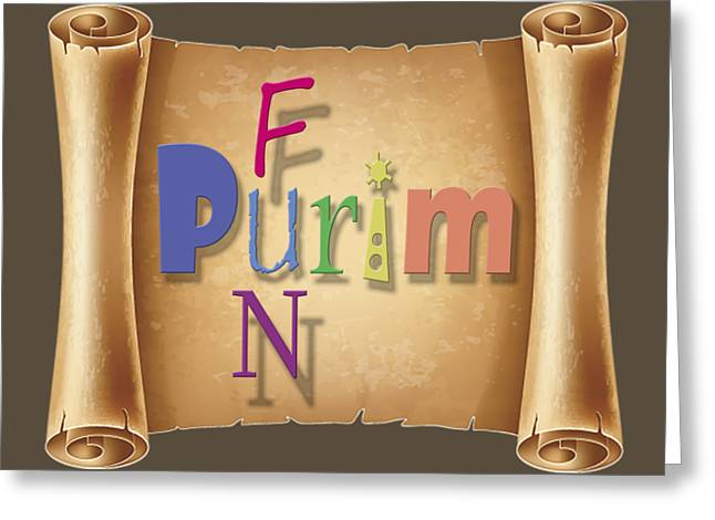 Happy Joyous Fun Purim  Greeting Card by Humorous Quotes