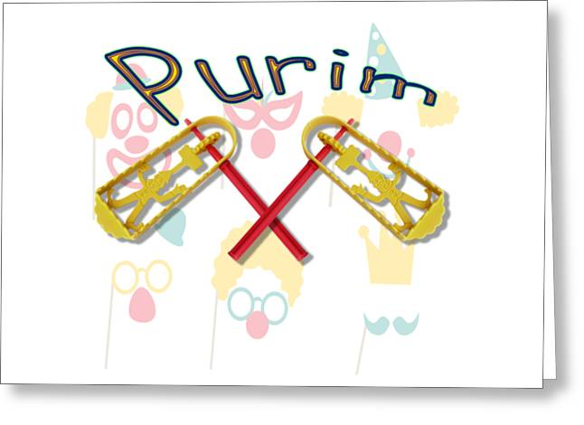 Happy Joyous Purim  Greeting Card by Humorous Quotes