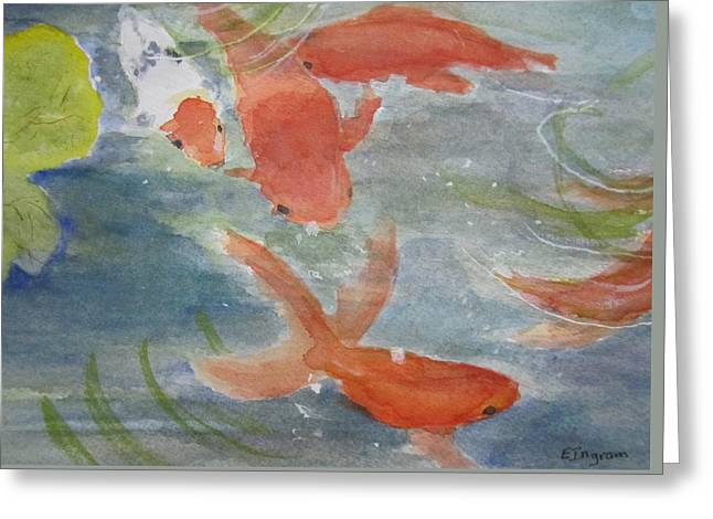 Happy Koi Greeting Card