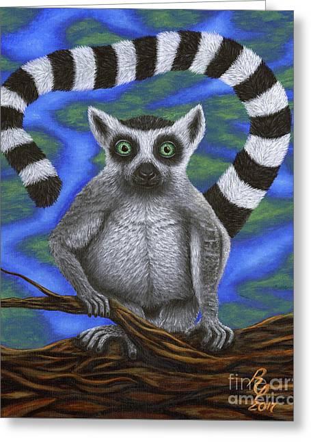 Happy Lemur Greeting Card