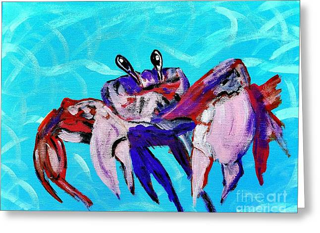 Happy Little Crab  Greeting Card by Scott D Van Osdol