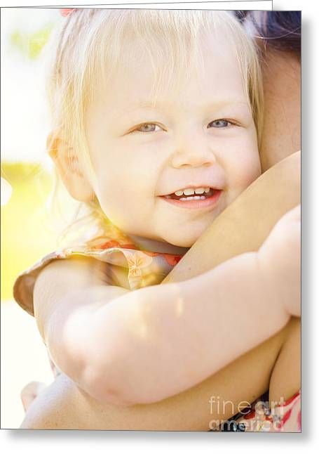 Happy Little Girl Smiling In Summer Sun Light Greeting Card by Jorgo Photography - Wall Art Gallery