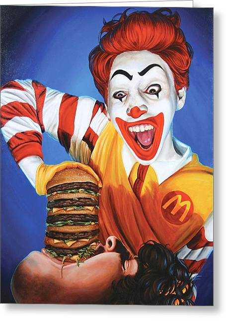 Happy Meal Greeting Card by Kelly Gilleran