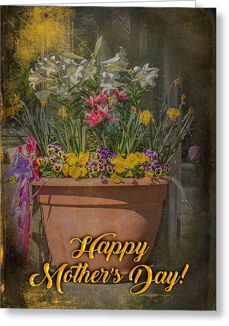 Happy Mother's Day Planter Greeting Greeting Card by Mother Nature