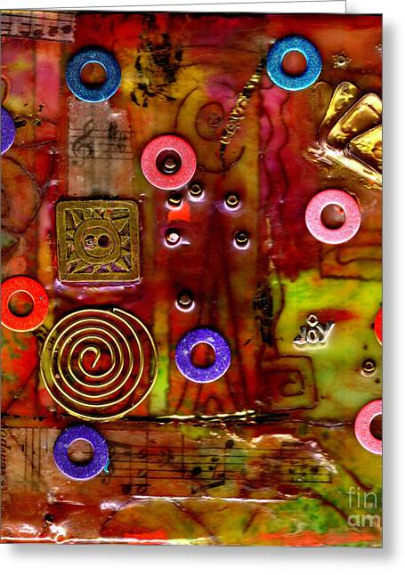 Happy Music Greeting Card by Angela L Walker