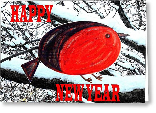 Happy New Year 16 Greeting Card by Patrick J Murphy