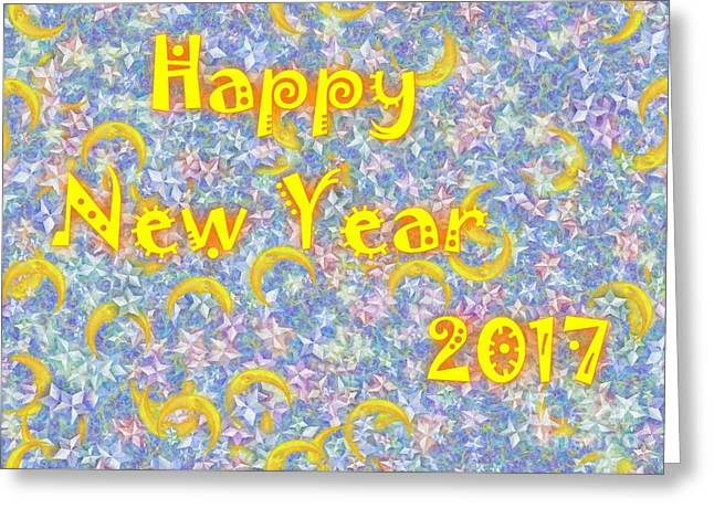 Happy New Year 2017 Greeting Card by Jean Bernard Roussilhe