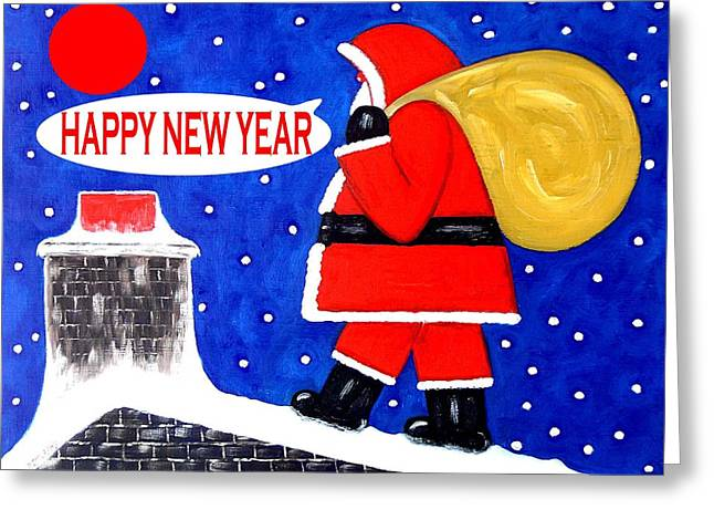 Happy New Year 48 Greeting Card by Patrick J Murphy
