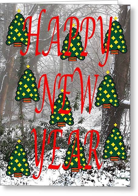 Happy New Year 60 Greeting Card by Patrick J Murphy