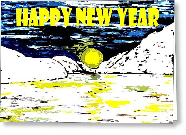 Happy New Year 78 Greeting Card by Patrick J Murphy