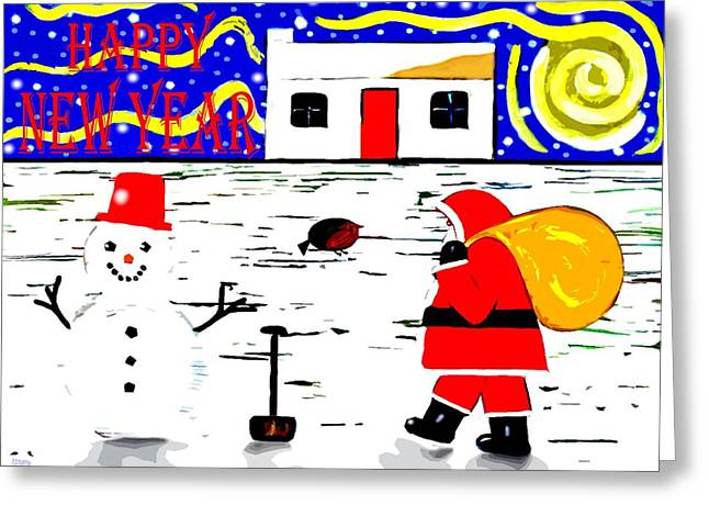 Happy New Year 81 Greeting Card by Patrick J Murphy