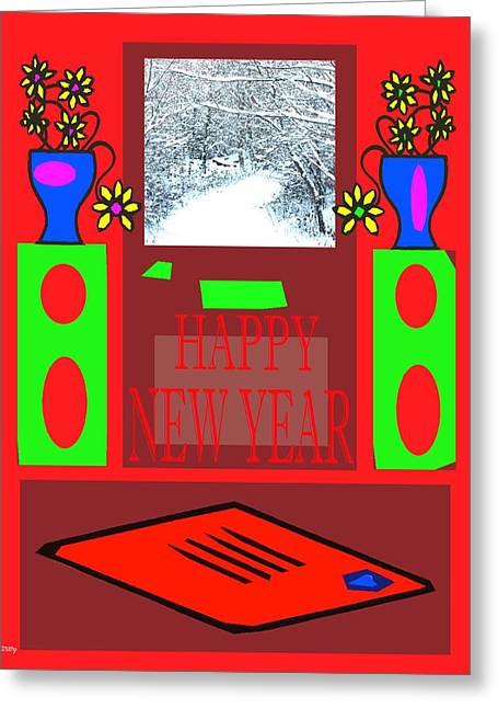 Happy New Year 97 Greeting Card by Patrick J Murphy