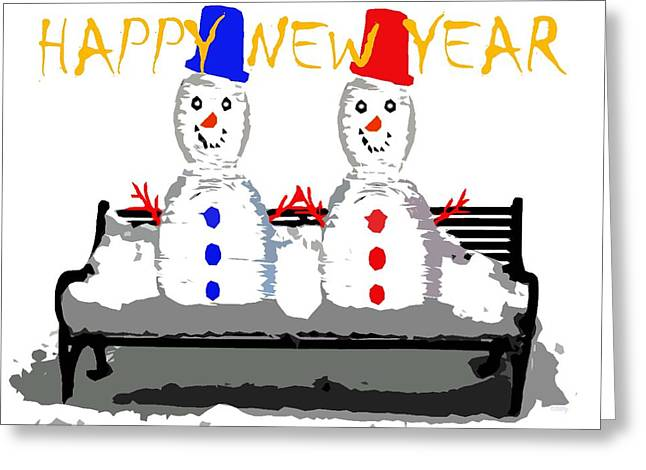 Happy New Year 98 Greeting Card by Patrick J Murphy