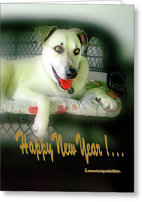 Happy New Year Art  Greeting Card