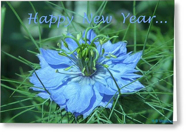 Happy New Year Greeting Card by B Vesseur