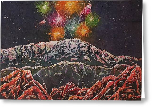 Happy New Year From America's Mountain Greeting Card