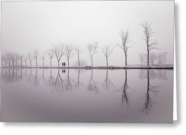 Happy New Year - Reflections Greeting Card by Roeselien Raimond