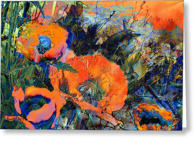Happy Poppies Greeting Card by Anne Weirich