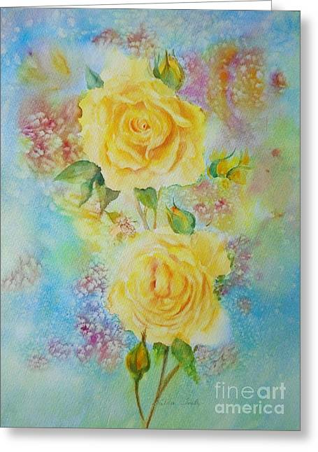 Happy Roses Greeting Card