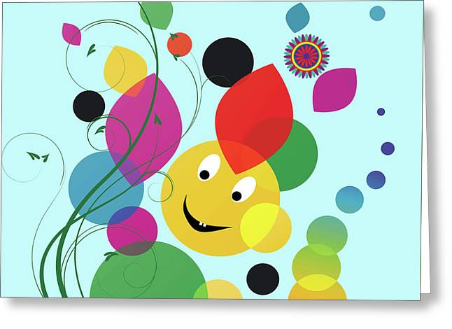 Happy Spring Image Greeting Card by Heinz G Mielke