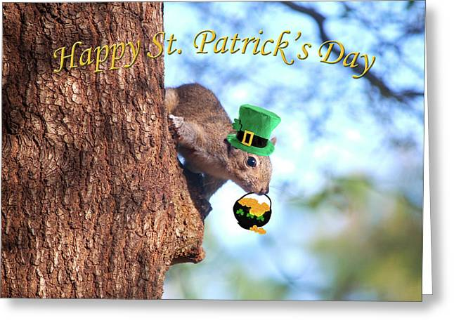 Happy St. Pat's Day Card Greeting Card by Adele Moscaritolo