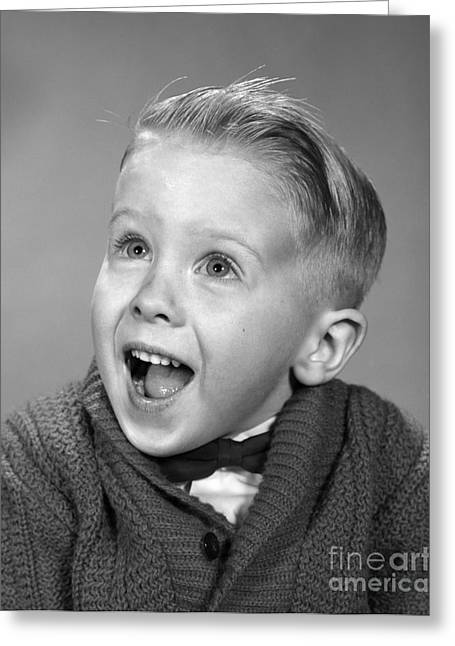 Happy, Surprised Boy, C.1960s Greeting Card