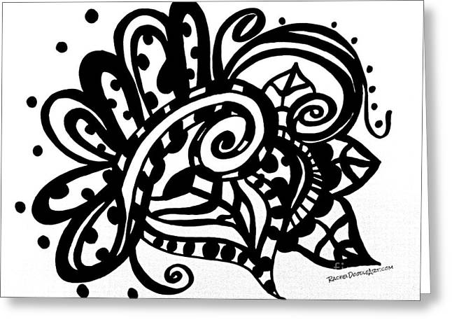 Happy Swirl Doodle Greeting Card