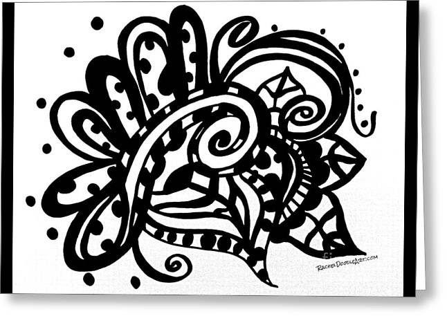Greeting Card featuring the drawing Happy Swirl Doodle by Rachel Maynard
