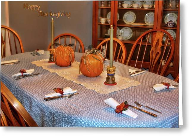 Happy Thanksgiving Greeting Card by Joan Bertucci