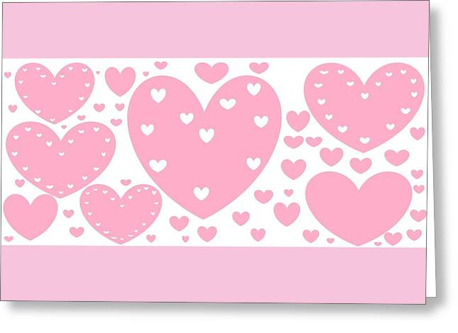 'just Hearts' Greeting Card