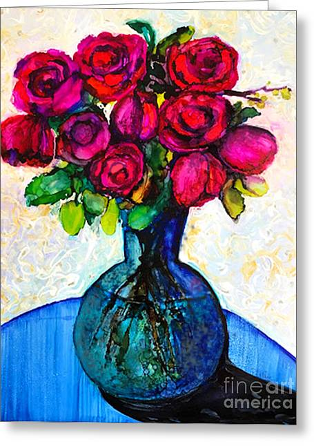 Greeting Card featuring the painting Happy Valentine's Day by Priti Lathia