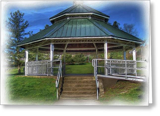 Greeting Card featuring the photograph Happy Valley Gazebo Art  by Thom Zehrfeld
