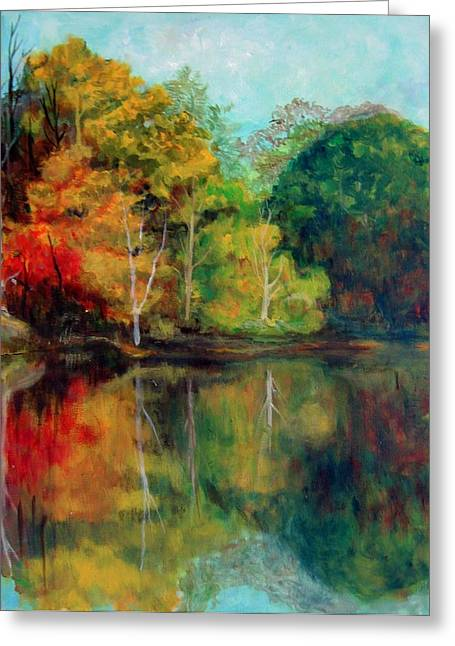 Happy Valley Pond Greeting Card by Lyn Vic