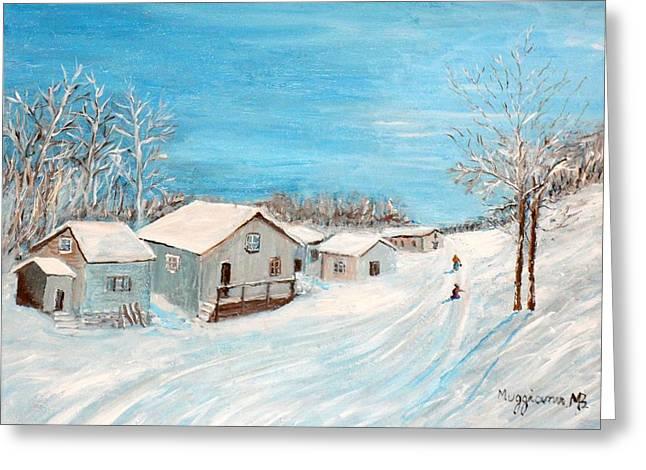 Happy Winter Greeting Card by Mauro Beniamino Muggianu