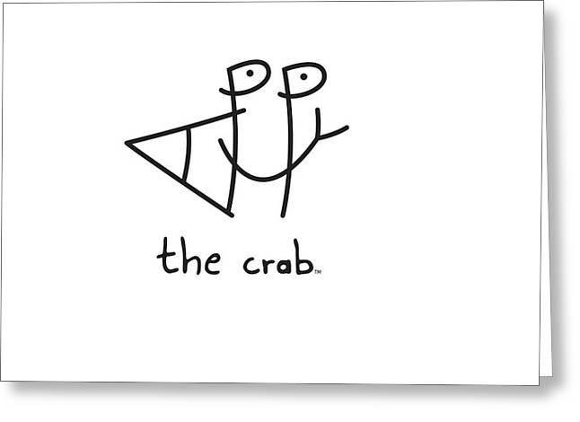 Happythecrab.com Greeting Card by Chris N Rohrbach