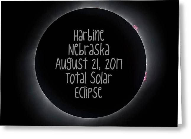 Harbine Nebraska Total Solar Eclipse August 21 2017 Greeting Card
